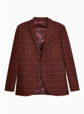 Red Check Slim Blazer