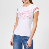 Superdry Women's Retro 75 Entry T-shirt - Optic Snowy - Uk 8 - White