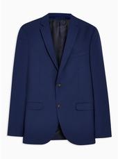 Blue Two Tone Skinny Blazer