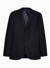 Navy Textured Tailored Blazer