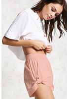 Roll-tab Linen Shorts