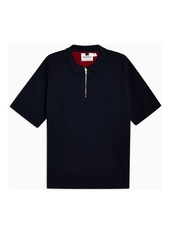 Navy Short Sleeve Polo Jumper