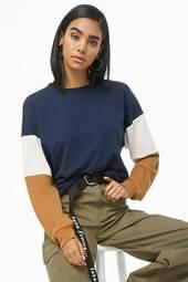 Colorblock Drop-shoulder Sweatshirt