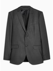 Black Pinstripe Slim Blazer