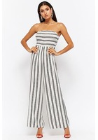 Variegated Stripe Strapless Jumpsuit