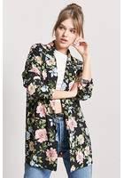 Open-front Floral Blazer