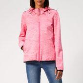 Superdry Women's Prism Hooded Sd-windtrekker Jacket - Berry Slub/ecru - Xs - Pink