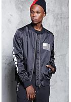 Contrast-lined Bomber Jacket