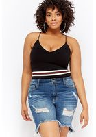 Plus Size Striped-trim Bodysuit