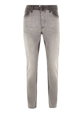Grey Panelled Stretch Slim Jeans