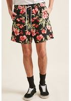 Tropical Floral Print Swim Trunks