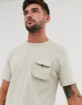 Camiseta Utilitaria De Corte Cuadrado En Gris Core De Jack & Jones
