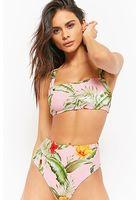 Tropical Floral Print Bikini Bottoms
