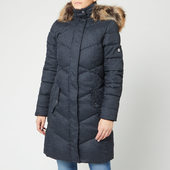 Barbour Women's Sternway Quilt Coat - Navy Marl/navy - Uk 8 - Blue