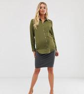 Minifalda Elástica Con Pinzas De Mamalicious