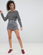 Minifalda Vaquera Con Bajo Sin Rematar De Wrangler