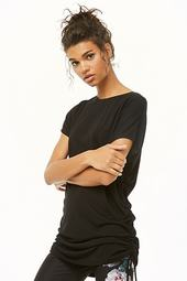 Active Ruched Cutout Tee