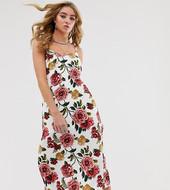 Vestido Midi De Tirantes Con Estampado Floral Y Aberturas Altas De Milk It Vintage