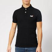 Superdry Men's Classic Pique Polo Shirt - Black - S - Black