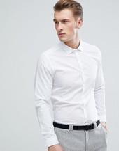 Camisa Ajustada En Blanco De Burton Menswear