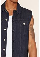 Button-front Denim Vest