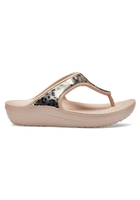 Crocs Flip Women Gold / Gold Crocs Sloane Metallic Graphic S