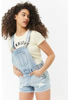 Frayed Denim Overalls