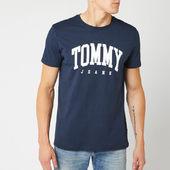 Tommy Jeans Men's Essential Logo T-shirt - Black Iris - S - Blue