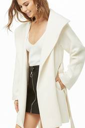 Oversized-lapel Wrap Coat