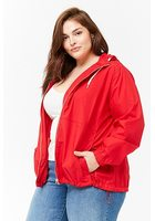 Plus Size Hooded Windbreaker