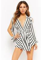 Striped Skort Romper