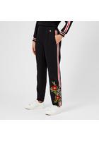 Ted Baker Women's Madlyne Floral Detailing Trousers - Black - 2/uk 10 - Black