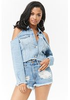 Open-shoulder Denim Jacket