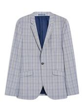 Blue Check Super Skinny Blazer