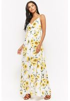 Sunflower Print Maxi Dress