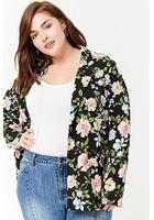 Plus Size Garden Flower Print Blazer
