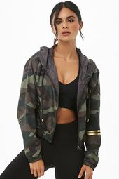 Active Camo Print Windbreaker