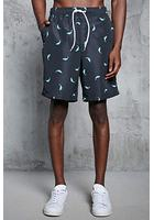 Dolphin Print Swim Trunks