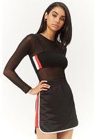 Contrast-trim Mini Skirt