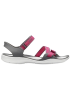 Crocs Sandal Women Paradise Pink/smoke Swiftwater Webbing