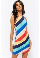 Striped Strappy Mini Dress