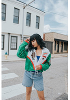 Mountain Dew Colorblock Bomber Jacket
