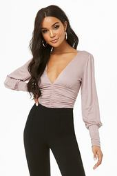 Plunging Ruched Bodysuit