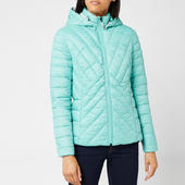 Barbour Women's Rowlock Quilt Coat - Sea Green/ice White - Uk 8