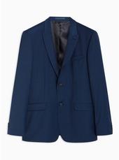 Premium Navy Slim Check Blazer