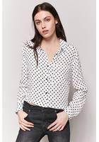 High-low Polka Dot Shirt