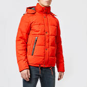 Superdry Men's New Academy Jacket - Blood Orange - M - Orange