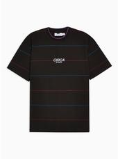 Black 'circa' Stripe T-shirt
