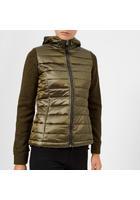 Superdry Women's Sd Storm Hybrid Zip Hood Jacket - Khaki/khaki Grit - S/uk 10 - Green