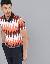 Polo De Golf De Secado Rápido Con Estampado Integral De Asos 4505
